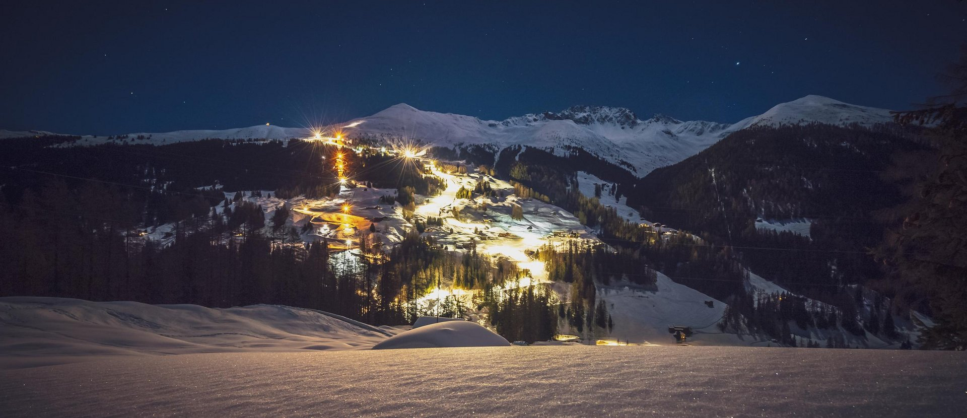 Winter sports at night