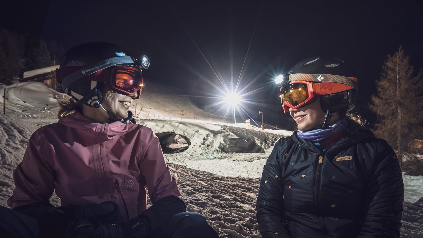 During the winter season, the Rinerhorn ski area in Davos Klosters, Switzerland, offers night sledging and night skiing by moonlight twice a week from 7 pm to 11pm.